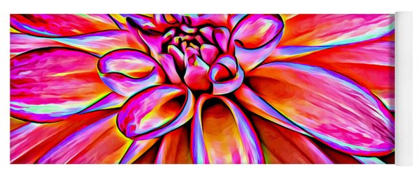 Pop Art Dahlia Yoga Mat