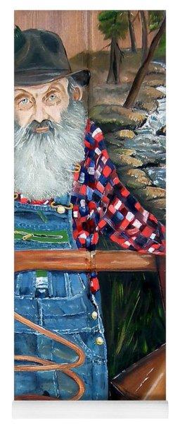 Yoga Mat featuring the painting Popcorn Sutton - Bootlegger - Still by Jan Dappen