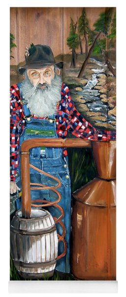 Yoga Mat featuring the painting Popcorn Sutton - Moonshiner - Redneck by Jan Dappen