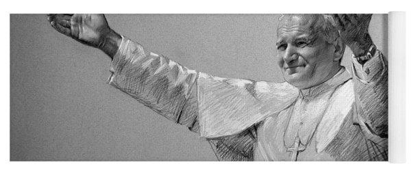 Pope John Paul II Bw Yoga Mat