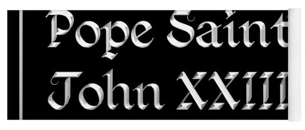 Pope Saint John Xxiii Pray For Us Yoga Mat