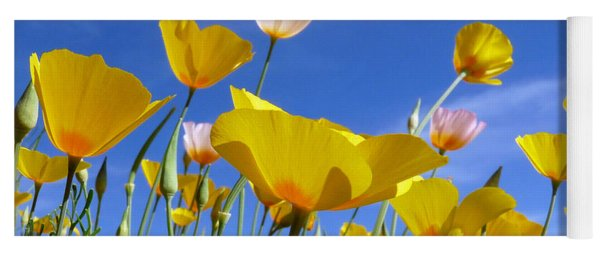 Poppies And Blue Arizona Sky Yoga Mat