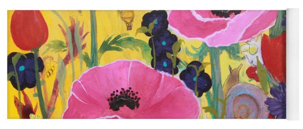 Poppies And Time Traveler Yoga Mat