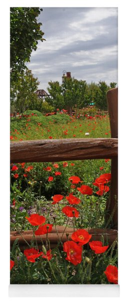 Poppies At The Farm Yoga Mat
