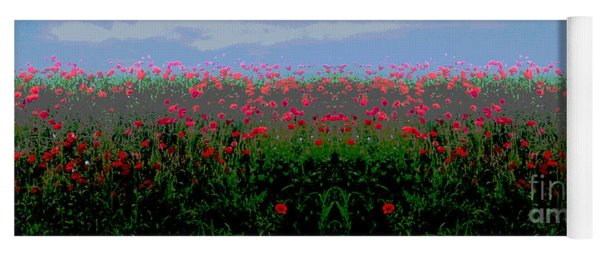 Poppies Field Yoga Mat