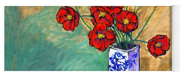 Poppies In A Vase Yoga Mat