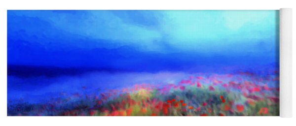 Poppies In The Mist Yoga Mat