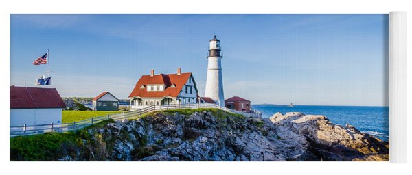 Portland Head Light House Cape Elizabeth Maine Yoga Mat