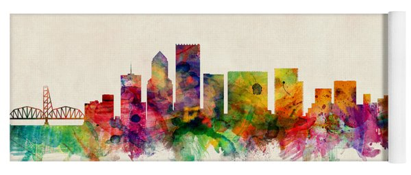 Portland Oregon Skyline Yoga Mat