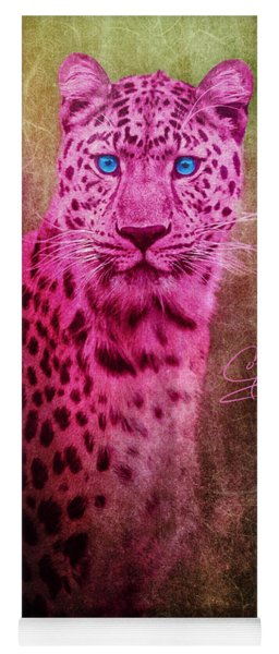 Portrait Of A Pink Leopard Yoga Mat