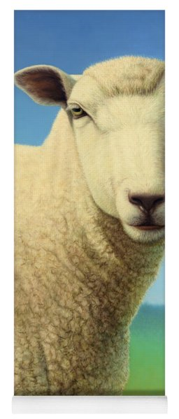Portrait Of A Sheep Yoga Mat