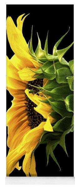 Portrait Of A Sunflower Yoga Mat