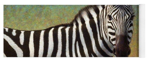 Portrait Of A Zebra Yoga Mat