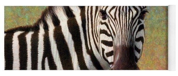 Portrait Of A Zebra - Square Yoga Mat