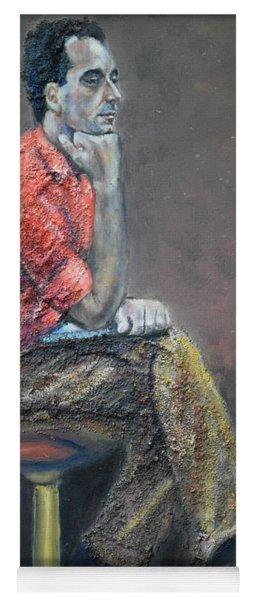 Portrait Of Ali Akrei - The Painter Yoga Mat
