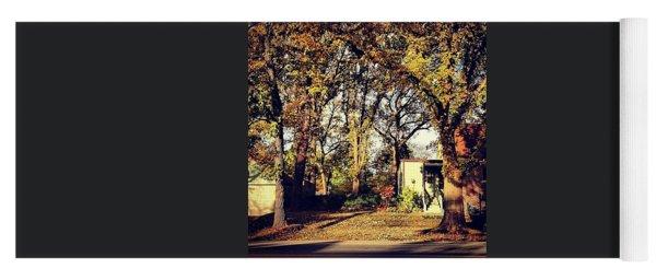 Portrait Of Autumn Yoga Mat