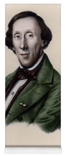 Portrait Of Hans Christian Andersen Yoga Mat