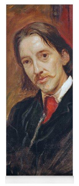Portrait Of Robert Louis Stevenson 1850-1894 1886 Oil On Canvas Yoga Mat