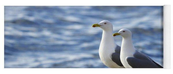 Posing Seagulls Yoga Mat