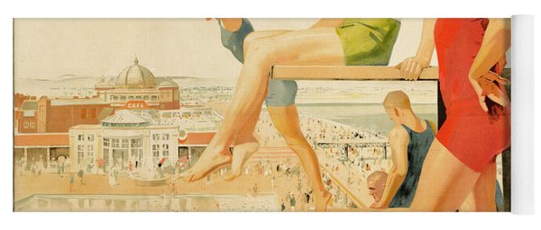 Poster Advertising Sunny Rhyl  Yoga Mat