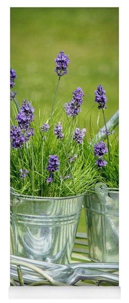 Pots Of Lavender Yoga Mat