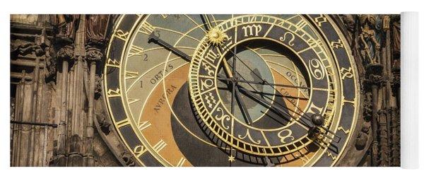 Prague Astronomical Clock Yoga Mat