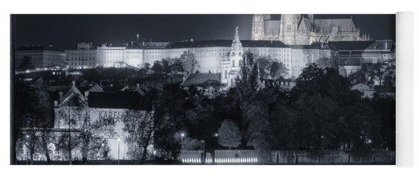 Prague Castle At Night Yoga Mat
