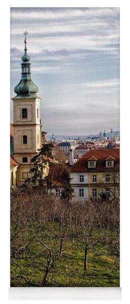 Prague View From The Gardens Yoga Mat