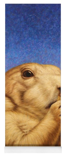 Yoga Mat featuring the painting Prairie Dog by James W Johnson