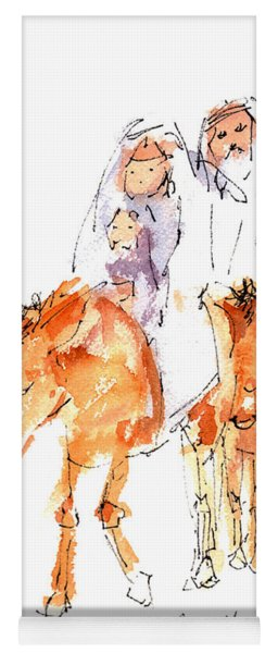 Praise You Jesus Watercolor Painting By Kmcelwaine Yoga Mat