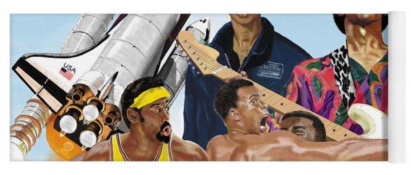 Jimi, Muhammad Ali, Wilt Chamberlain And Mae Carol Jemison Yoga Mat