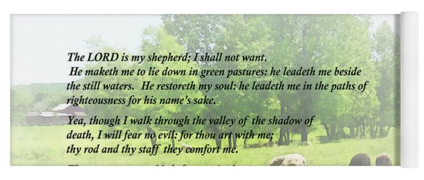 Psalm 23 The Lord Is My Shepherd Yoga Mat