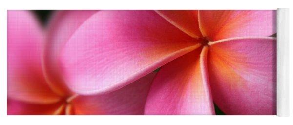 Pua Lei Aloha Cherished Blossom Pink Tropical Plumeria Hina Ma Lai Lena O Hawaii Yoga Mat