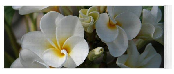Pua Melia Na Puakea Onaona Tropical Plumeria Yoga Mat
