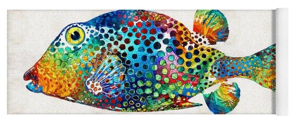 Puffer Fish Art - Puff Love - By Sharon Cummings Yoga Mat