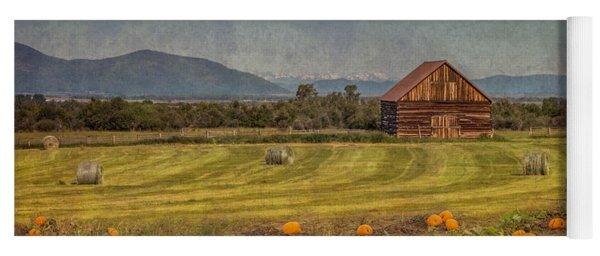 Pumpkin Field Moon Shack Yoga Mat