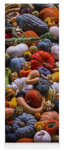 Pumpkins And Gourds Pile Yoga Mat