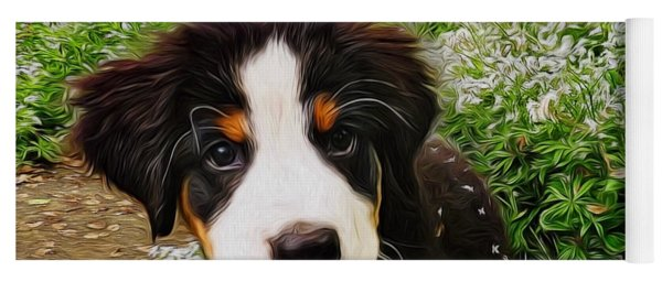Puppy Art - Little Lily Yoga Mat