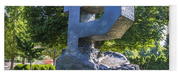 Purdue University Block P Project Statue Yoga Mat