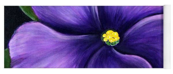 Purple African Violet Yoga Mat