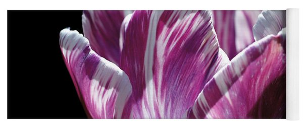 Purple And White Marbled Tulip Yoga Mat
