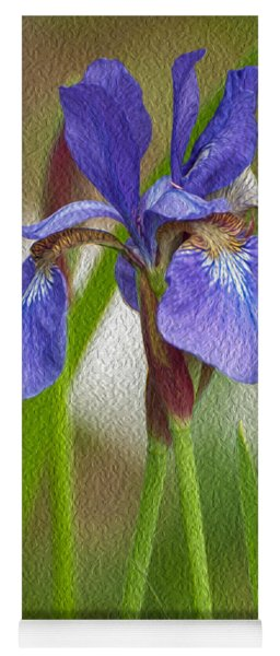 Purple Bearded Iris Oil Yoga Mat
