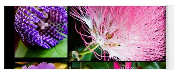 Purple Bouquet Yoga Mat