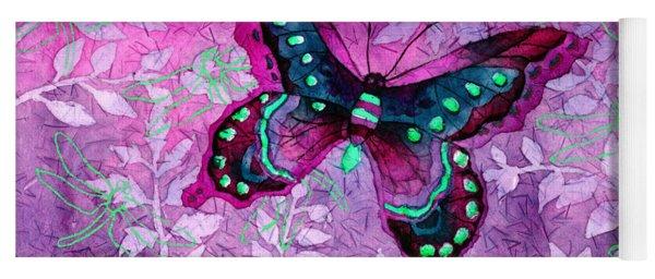 Purple Butterfly Yoga Mat