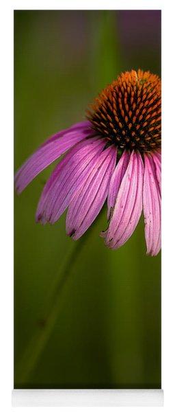 Purple Cone Flower Portrait Yoga Mat