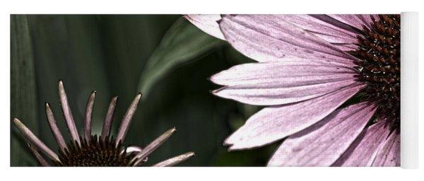 Purple Coneflower Imperfection Yoga Mat
