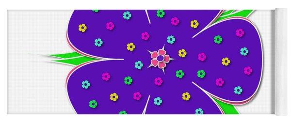 Purple Flower  Yoga Mat