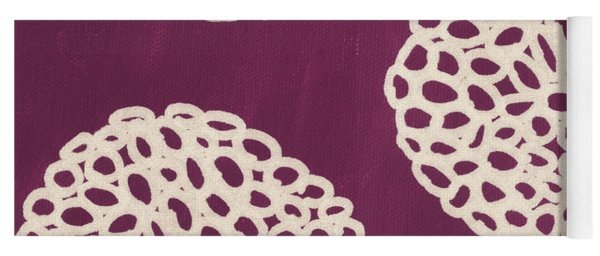 Purple Garden Bloom Yoga Mat
