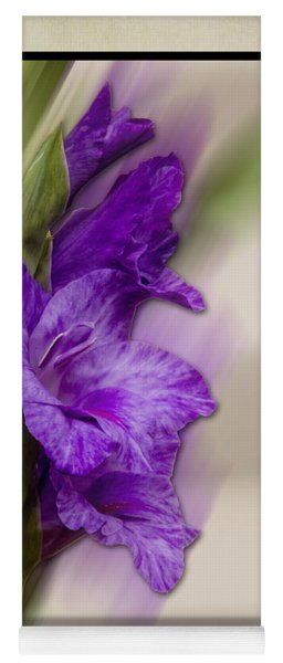 Yoga Mat featuring the photograph Purple Gladiolus Bloom by Patti Deters