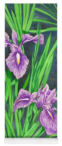 Purple Iris Yoga Mat